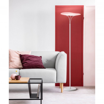 Fabas Luce Piantana da terra in stile moderno a LED struttura in metallo Vela Bianco Lumen 1800 3000k Luce Calda  3625-10-102