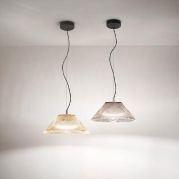 Fabas Luce Lampada a sospensione moderna con struttura in metallo e vetro Salento     3637-40