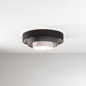 Fabas Luce Plafoniera da soffitto moderna con struttura in metallo e paralume in tessuto Brava Grigio    3639-65-354