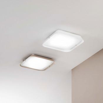 Fabas Luce Faretto da soffitto grande a LED con struttura in metallo e diffusore in vetro Hugo  Lumen 2500 4000k Luce Naturale  3645-65