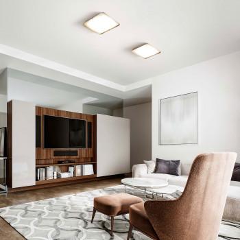 Fabas Luce Faretto da soffitto piccolo a LED con struttura in metallo e diffusore in vetro Hugo  Lumen 1870 4000k Luce Naturale  3645-61