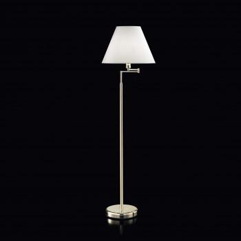 Perenz Piantana snodabile dal design moderno cromo lucido con paralume in pvc Dome Hotel     4018