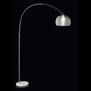 Perenz Piantana dal design moderno in metallo cromo lucido con base in marmo  Cromato