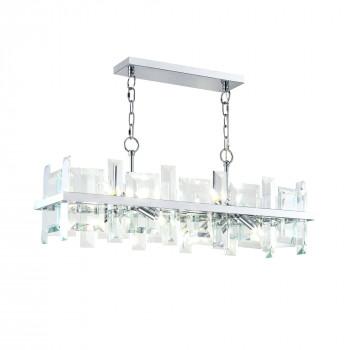 Maytoni Lampadario a sospensione moderno in metallo con diffusori in vetro Cerezo Trasparente    MOD201PL-08N