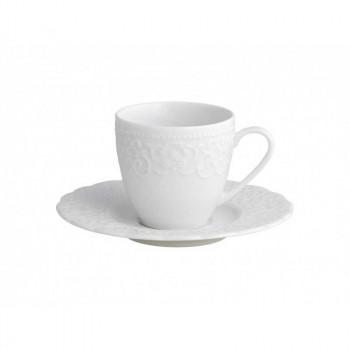Brandani Tazzina da caffè con piattino in porcellana Gran Gala Bianco    B53394