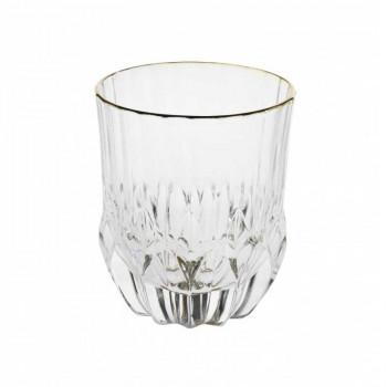 Brandani Set 6pz bicchieri per acqua in vetro Oh my Gold Trasparente    B53595