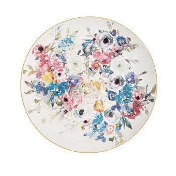 Brandani Centrotavola rotondo in ceramica dallo stile classico Paradise Multicolore    B53949