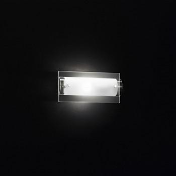 Perenz Applique piccola base in vetro trasparente e diffusore curvo in vetro satinato Tunnel Trasparente    5476
