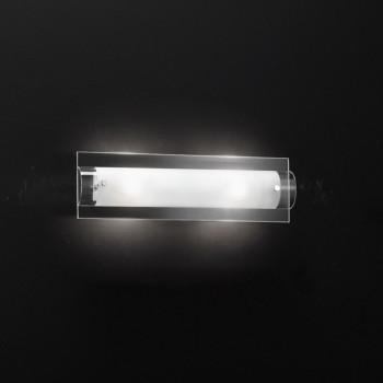 Perenz Applique media base in vetro trasparente e diffusore curvo in vetro satinato Tunnel Trasparente    5478