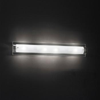 Perenz Applique grande base in vetro trasparente e diffusore curvo in vetro satinato Tunnel Trasparente    5480