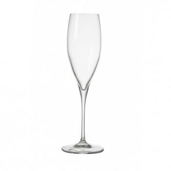 Brandani Bicchieri flute in vetro set 6pz per spumante Oblio Trasparente    54982