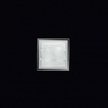 Perenz Plafoniera quadrata piccola di design moderno in vetro satinato