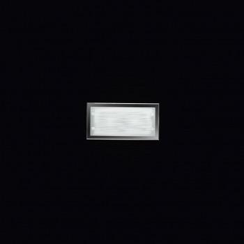 Perenz Plafoniera media rettangolare in vetro satinato di design moderno Frame Bianco    5743ST