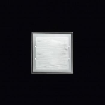 Perenz Plafoniera quadrata media di design moderno in vetro satinato