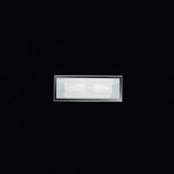 Perenz Plafoniera rettangolare media in vetro satinato di design moderno Frame Bianco    5745ST