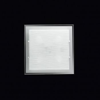 Perenz Plafoniera quadrata grande di design moderno in vetro satinato