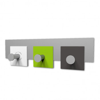 CalleaDesign Attaccapanni da parete piccolo in legno per ingresso CoatRack