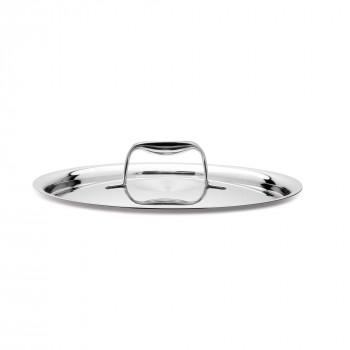 """Giannini Coperchio in acciaio inox diametro 14"""" Labond Acciaio"""
