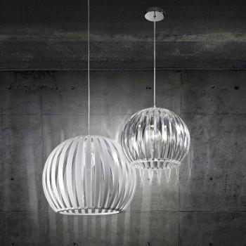 Perenz Lampada a sospensione grande con paralume in acrilico di design moderno