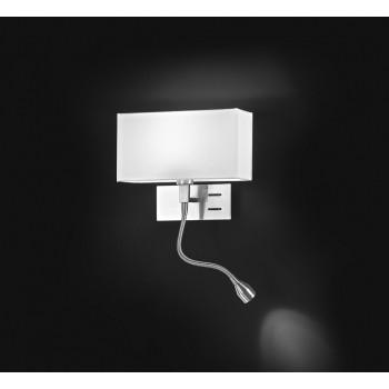 Perenz Applique con braccio a LED cromo spazzolato per camera da letto lato destro Para Hotel Cromato Lumen 90 3000k Luce Calda  5882CRDX