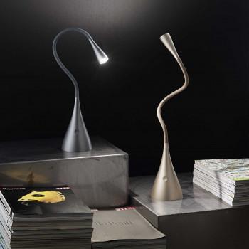 Perenz Lampada da tavolo a LED flex in plastica e metallo con diffusore snodabile   Lumen 300 3000k Luce Calda
