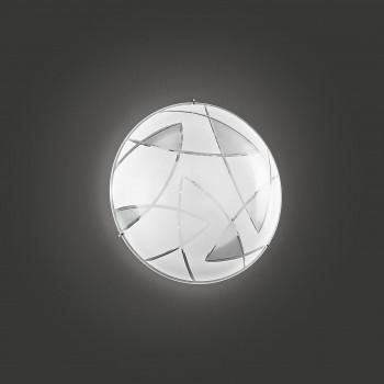 Perenz Plafoniera di designo moderno in metallo con paralume in vetro decorato piccola