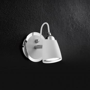 Perenz Faretto singolo a LED in metallo verniciato dal design moderno  Bianco  3000k Luce Calda