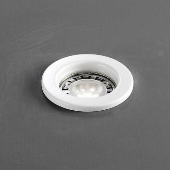 Perenz Faretto da incasso rotondo fisso in acciaio dal design moderno  Bianco