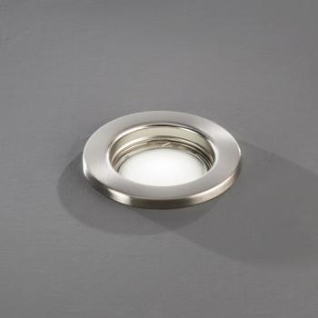 Perenz Faretto da incasso rotondo fisso in acciaio cromo spazzolato design moderno  Cromato