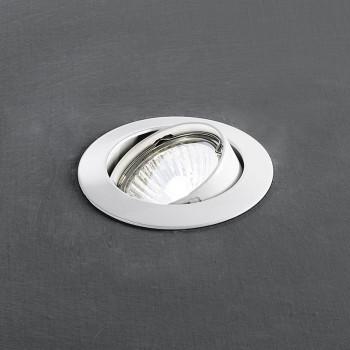 Perenz Faretto da incasso rotondo orientabile in alluminio dal design moderno  Bianco