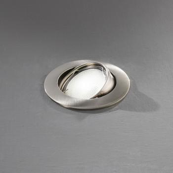 Perenz Faretto da incasso rotondo orientabile moderno in alluminio cromo spazzolato  Cromato
