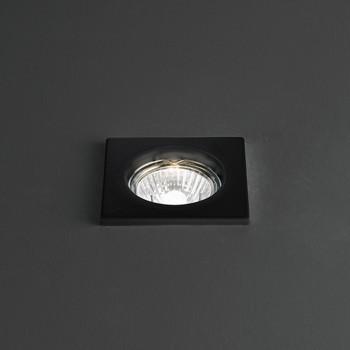 Perenz Faretto da incasso fisso a risparmio energetico in acciaio verniciato Oasis Nero    5968N
