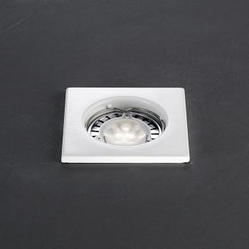 Perenz Faretto da incasso fisso in acciaio dal design moderno elegante  Bianco