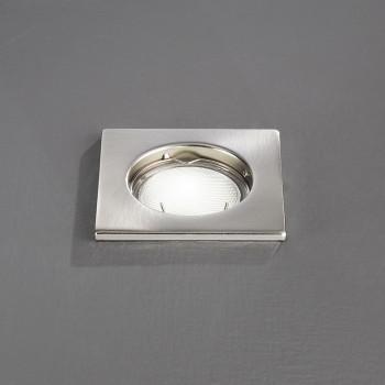 Perenz Faretto da incasso fisso in acciaio cromato spazzolato design moderno  Cromato