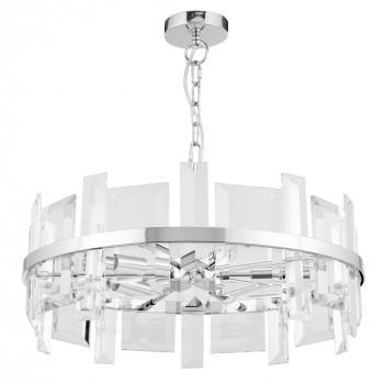 Maytoni Lampadario a sospensione piccolo rotondo in metallo con diffusori in vetro Cerezo Trasparente    MOD201PL-05N