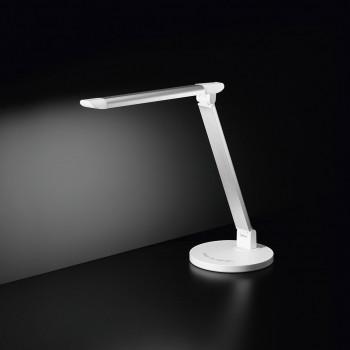 Perenz Lampada da tavolo a LED in alluminio e plastica dal design moderno per ufficio  Bianco