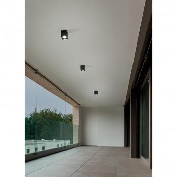 Perenz Plafoniera per interni in alluminio verniciato con diffusore in vetro Brick     6117