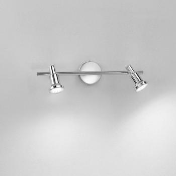 Perenz Faretto a LED con 2 luci con struttura metallo cromato lucido dal design moderno  Cromato  3000k Luce Calda