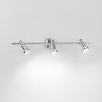 Perenz Faretto a LED con 3 luci struttura in metallo cromato lucido dal design moderno  Cromato  3000k Luce Calda
