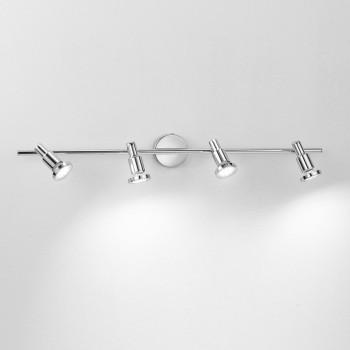 Perenz Faretto a LED 4 luci e struttura in metallo cromato lucido dal designo moderno  Cromato  3000k Luce Calda