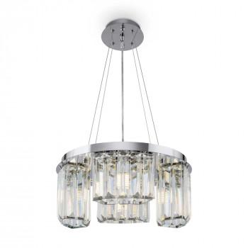 Maytoni Illuminazione a sospensione moderna piccola in metallo con diffusori in vetro Colline Cromato    MOD083PL-04CH