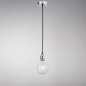 Perenz Lampada a sospensione singola in metallo cromo lucido design minimalista