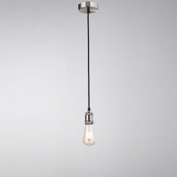 Perenz Lampada a sospensione in metallo cromato spazzolato di design minimal