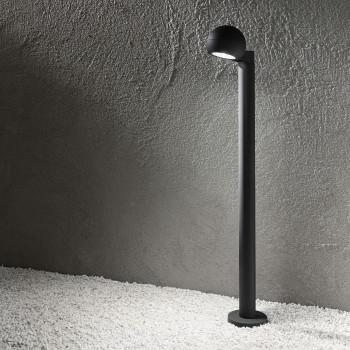 Perenz Illuminazione da terra a LED in alluminio per esterni dal design moderno  Grafite Lumen 750 4000k Luce Naturale
