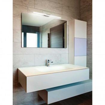 Perenz Applique per bagno media a LED in metallo cromo lucido e diffusore in acrilico  Cromato Lumen 1540   6330CL