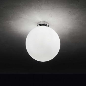 Perenz Plafoniera da soffitto di designo moderno in cromo lucido e diffusore in vetro