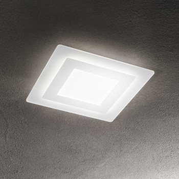 Perenz Plafoniera a LED di design moderno in metallo e plexiglass media  Bianco Lumen 2500   6362B