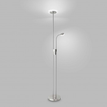 Perenz Piantana a LED in metallo con diffusore in plexiglass dal design moderno   Lumen 2000 3000k Luce Calda  6444