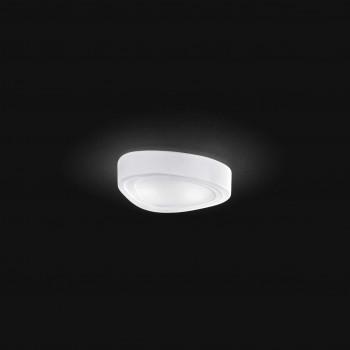 Perenz Plafoniera piccola in vetro con forma a goccia di design moderno elegante  Bianco