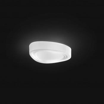 Perenz Plafoniera media in vetro con forma a goccia di design moderno elegante  Bianco